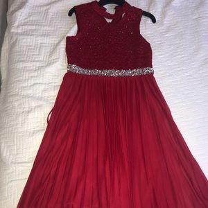 Beautiful little girl red dress